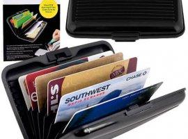 Aluminum RFID Blocking Wallet - Black