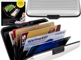 Aluminum RFID Blocking Wallet - Silver
