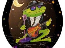 Blues Bullfrog Toilet Seat - Elongated
