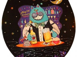 Alley Cat Bartender Toilet Seat - Elongated