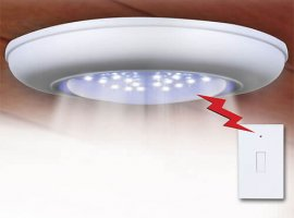 Cordless Ceiling/Wall Light with Remote