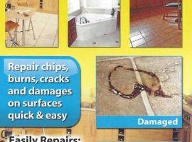 Liquid Leather Vinyl Floor & Tile Repair Kit