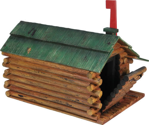 Attirant River Log Cabin Mailbox