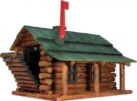 River Log Cabin Mailbox
