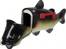River's Edge Fade Resistant Mailbox Catfish High Impact Poly w/ UV Protection
