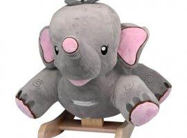 Rosie the Grey Elephant Baby Rocker (Pink Ears)