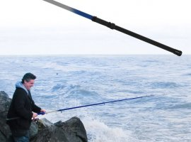 Gone Fishing Telescoping Fishing Rod up to 9.5 feet - Blue