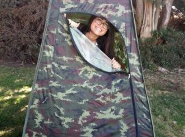 The Travel Toilet - Privacy Pop Up - Camo