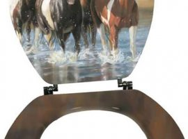 Victoria Shultz Horse Standard Toilet Seat